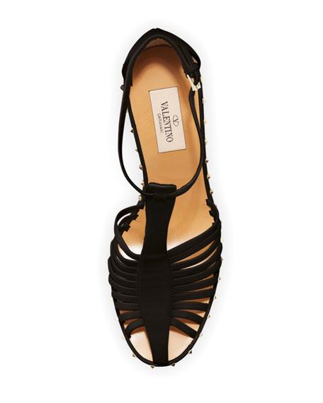 Soul Stud T-Strap Leather Sandal