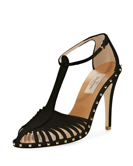 Soul Stud T-Strap Leather Sandal