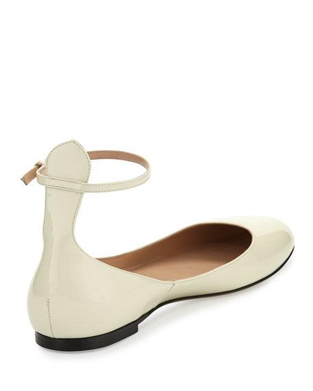 Tango Patent Ankle-Strap Flat