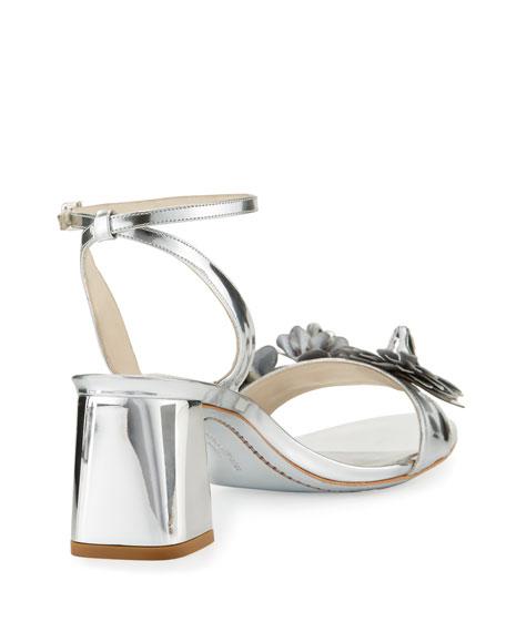 Lilico Metallic Block-Heel Sandal, Silver