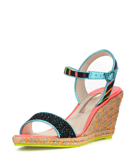 58f03abb8 Sophia Webster Lucita Striped Wedge Sandals