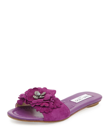 Jimmy Choo Suede Slide Sandals cheap from china ga3sWO