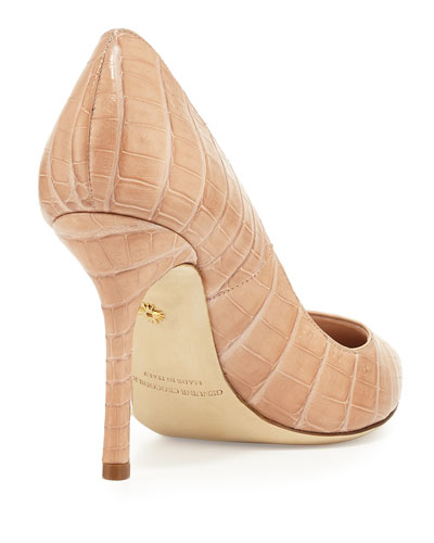 NANCY GONZALEZ High heels HOLLY CROCODILE POINT-TOE PUMP