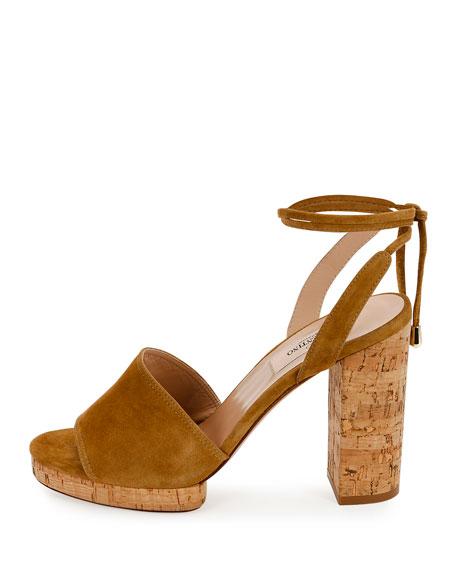 Erin B. Suede Block-Heel Sandal
