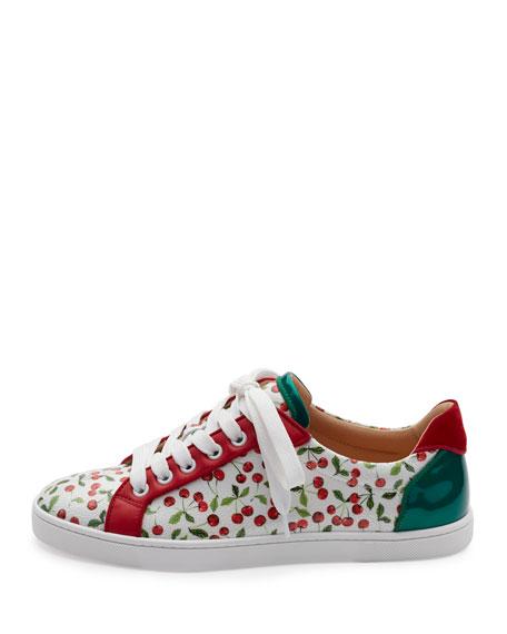 Seava Cherry-Print Low-Top Sneaker, Multi