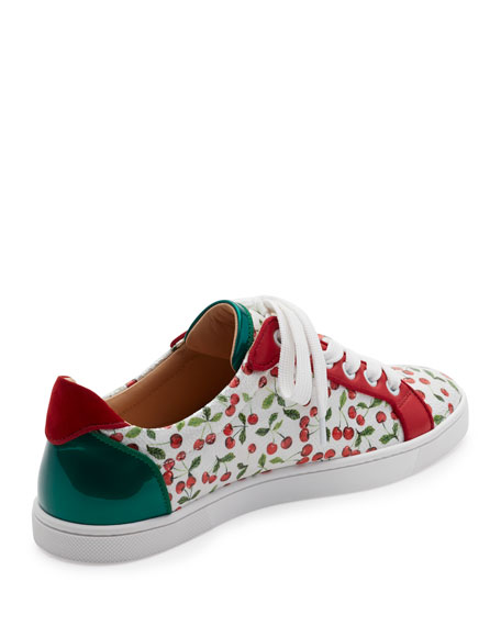 bbd684bca73 Christian Louboutin Seava Cherry-Print Low-Top Sneaker