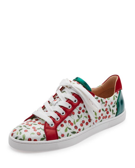 Seava Cherry-Print Low-Top Sneaker, Multi
