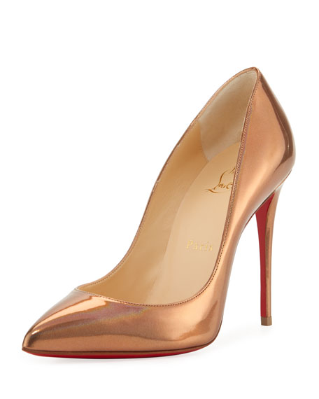 wholesale dealer 0048d bd042 Pigalle Follies Metallic Red Sole Pump Gold