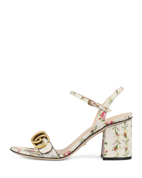 e46b06b1ee88 Gucci Marmont Rose 75mm Sandal