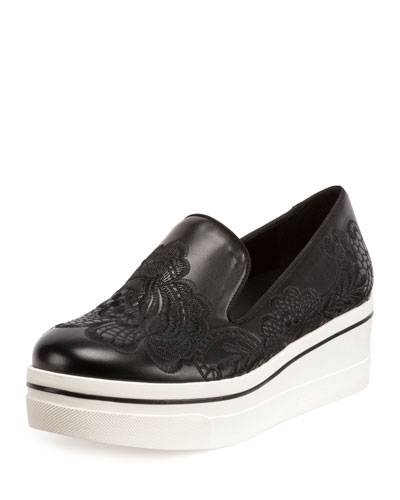 Binx Embroidered Skate Sneaker, Black