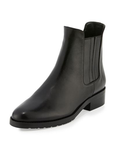 Basilico Leather Chelsea Boot, Nero