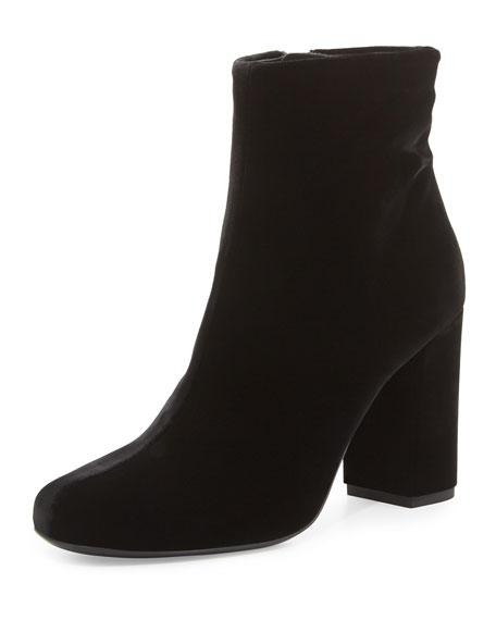 7eceb738706 Saint Laurent Babies Velvet 90mm Ankle Boot, Black (Nero)