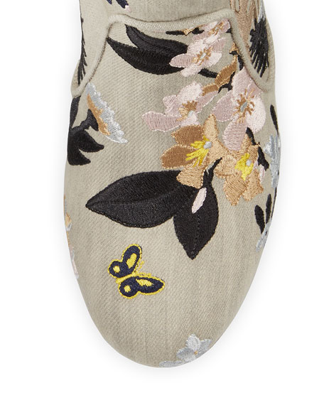 Pete Floral-Embroidered Western Boot