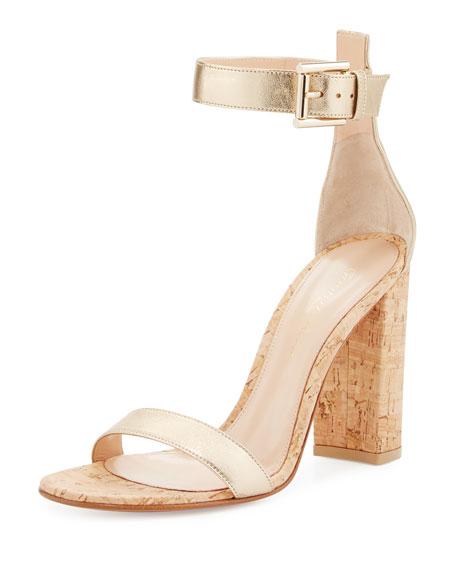 Portofino Cork Sandal, Gold