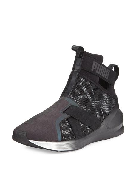 Black Knit Fierce Sneaker High Top On0vy8Nmw