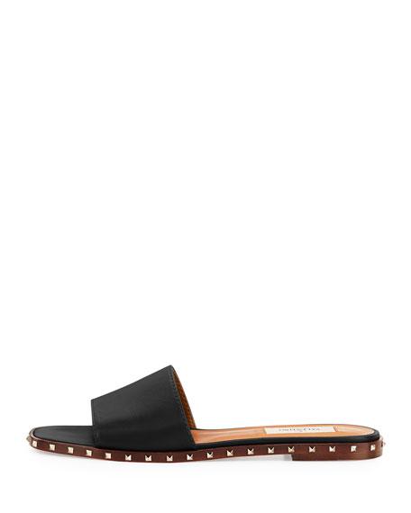 Soul Stud Leather Mule Slide