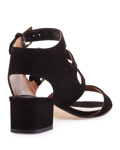 Klio Nubuck Three-Buckle Sandals