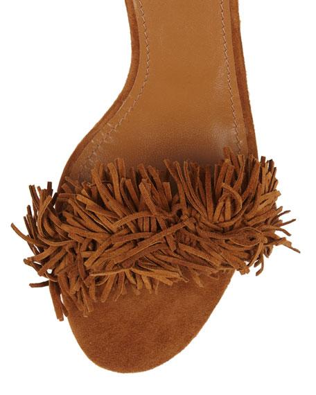 Wild Thing Fringe City Sandal, Cognac