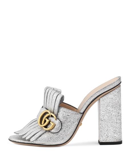 b1ff8de3254d Gucci Marmont Metallic Mule Sandal
