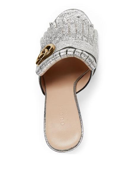 6a9c1c21843 Gucci Marmont Metallic Mule Sandal