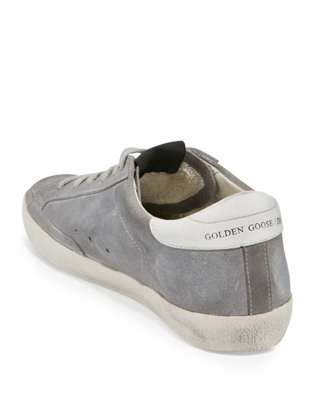 Superstar Embroidered Low-Top Sneaker, Ash Gray