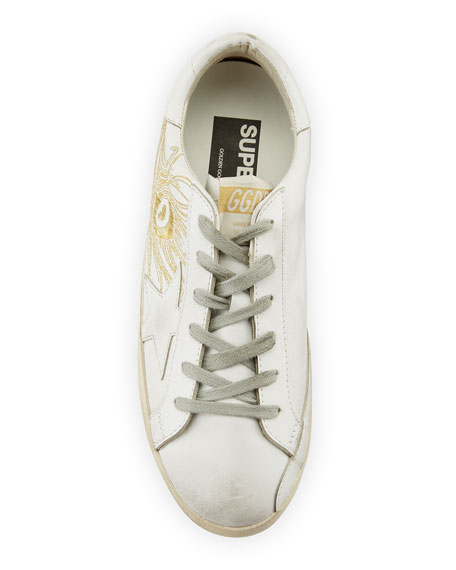 270f33841d57 Golden Goose Superstar Embroidered Low-Top Sneaker
