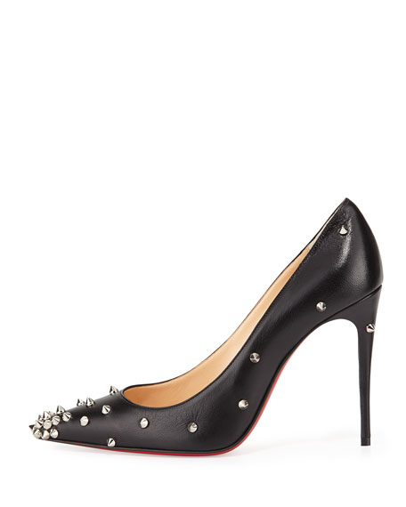 Degraspike Studded Leather Red Sole Pump