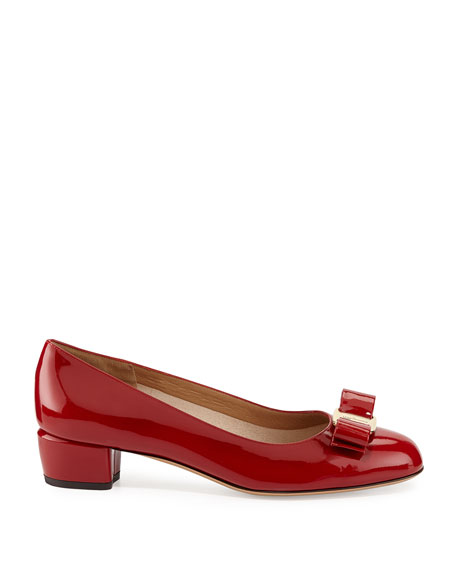 Vara 1 Patent Bow Pumps, Red (Rosso)