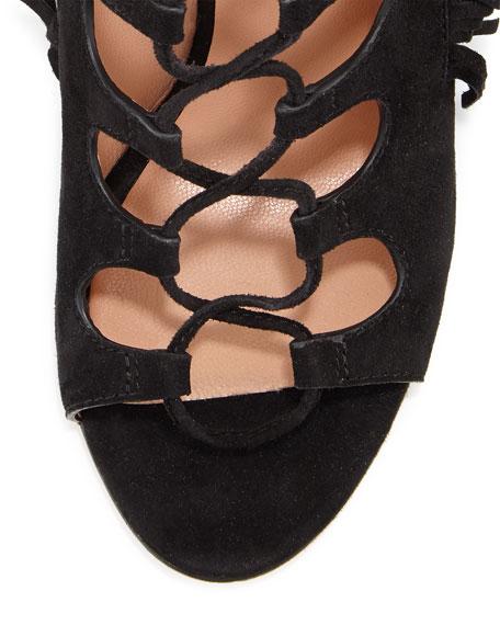 Marita Ghillie-Tie Fringe Sandal