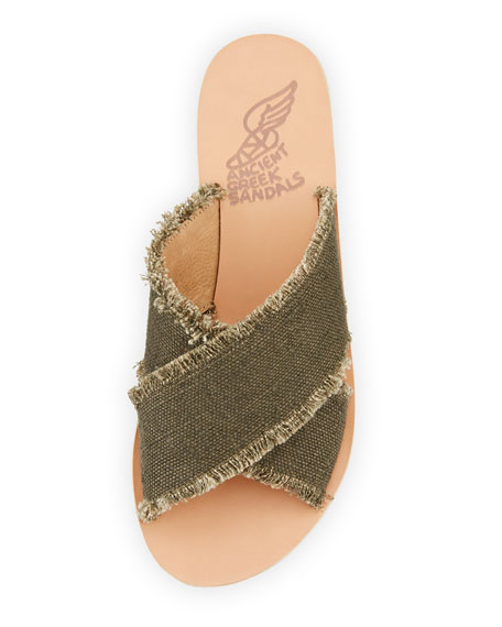 Thais Crisscross Sandals, Khaki