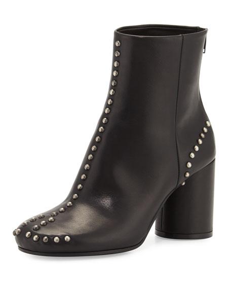 Maison Margiela Studded Leather Round-Heel Ankle Boot