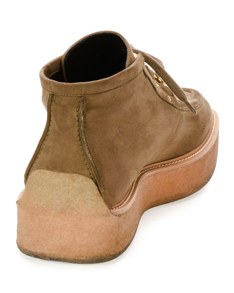 Faux-Suede Clipper Boot, Beige