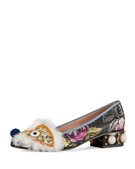 Gucci Kimberly Embroidered Jacquard Pump, Multi