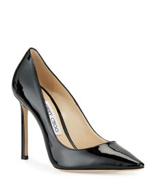 Romy 100mm Patent Leather Pump by Jimmy Choo