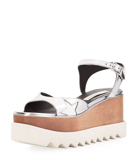 1d1063d3b2cc Stella McCartney Star Wooden-Platform Sandals