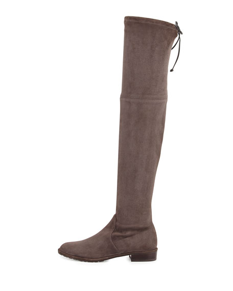 Lowland Stretch-Suede Over-the-Knee Boot, Londra