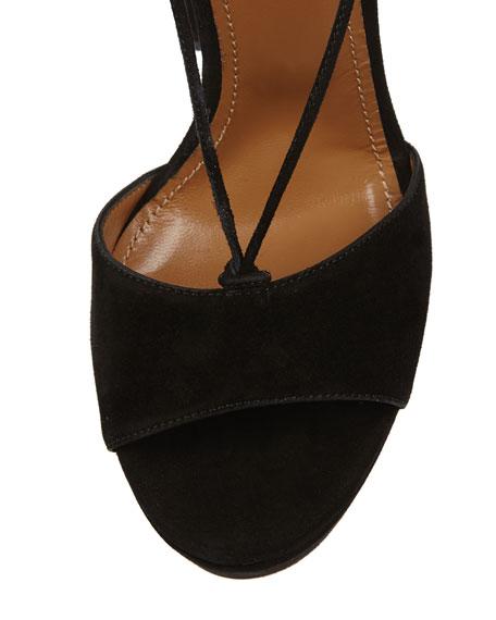 Austin Plateau Suede Platform Sandal, Black