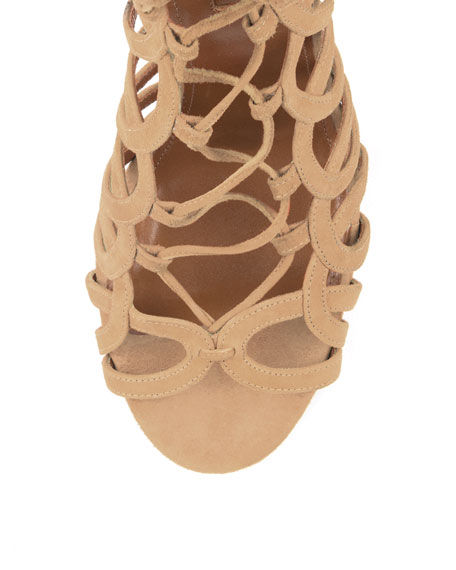 Ooh Lala Caged Suede Sandal