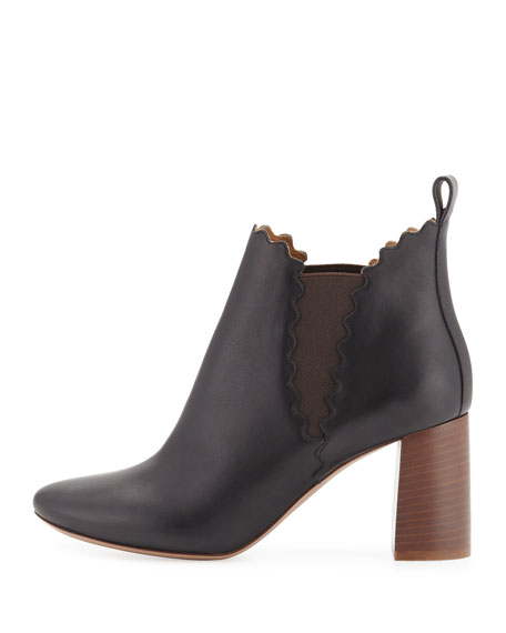 Scalloped Leather Chelsea Boot
