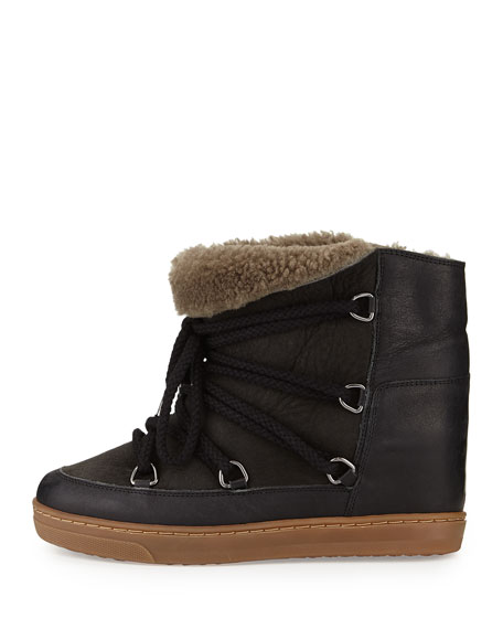 Nowles Shearling Fur-Lined Ankle Boot