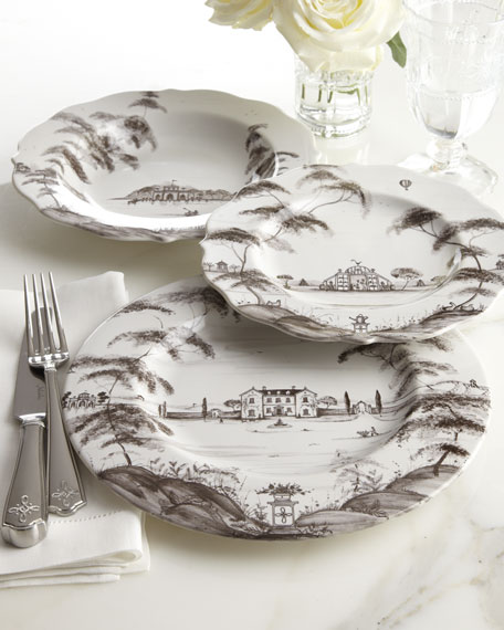 Country Estate Main House Dinner Plates, Set of 4