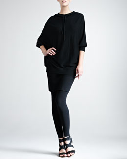 Donna Karan Hooded Cashmere Top, Stretch-Cashmere Tube Skirt & Leggings