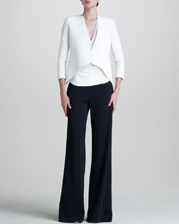 Donna Karan Superfine Jersey Top & Matte Stretch Cardigan Jacket