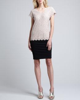 Diane von Furstenberg Cholula Cap-Sleeve Lace Top & New Koto Skirt