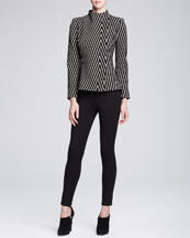 Armani Collezioni Striped Jacket & Double-Faced Jersey Leggings