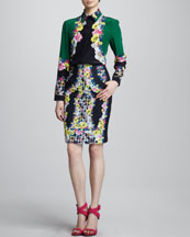 Erdem Long-Sleeve Blouse & Fitted Skirt