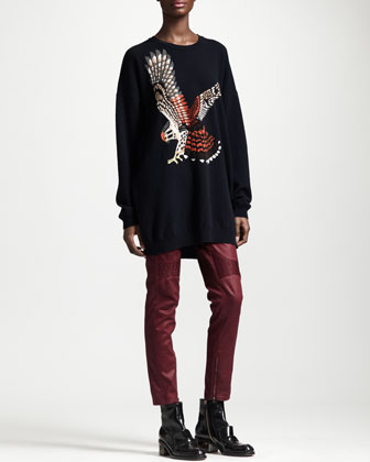 Kestrel Intarsia Sweater & Coated Ankle-Zip Pants