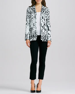 Diane von Furstenberg Vintage Stretch Printed Georgette Jacket & Clean Pinca Pants