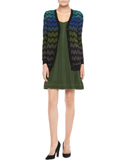 M Missoni Zigzag Knit Cardigan & Sleeveless Ribbed Knit Dress