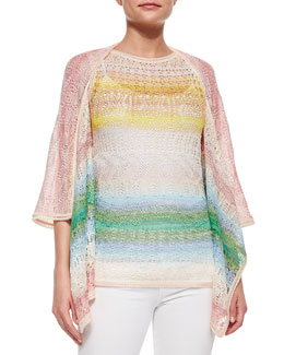 Ombre Striped Crochet Cardigan & Tank